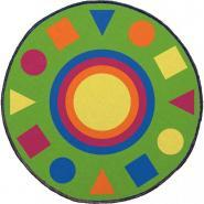 Tapis de regroupement diamètre 2m les formes géométriques