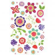 Planche de transfert à sec motif fleurs - Sachet de 4