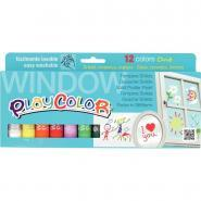 Sticks de gouache à vitres, couleurs assorties - Boite de 12