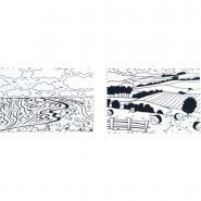 Plaque à embosser - Les paysages - Lot de 2