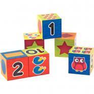 Cubes en plastique - Boite de 6