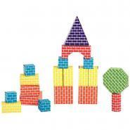 Briques en carton, formes assorties - Boite de 45