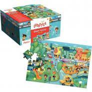 Puzzle géant en carton 48 pièces, la ville