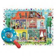 Puzzle d'observation 108 pièces, la maison + 1 loupe
