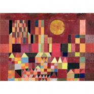 Puzzle en bois d'environ 24 pièces, CHATEAU ET SOLEIL de Paul KLEE