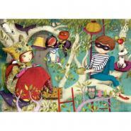 Puzzle en bois d'environ 50 pièces, LA LECTURE de Sophie LEBOT