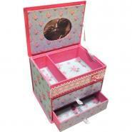 Boite à bijoux avec 2 tiroirs, en carton