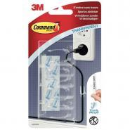 3M - Blister de 4 clips range câbles + 5 languettes adhésives