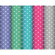 Rouleaux de papier cadeau pois assortis, 2x0,7m - Carton de 10