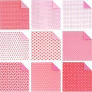 Feuilles Origami Coeur 20 x 20 cm - Pochette de 60