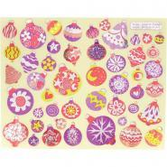 Gommettes boules de Noël holographique - Pochette de 376