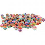 Perles rondes multicolores, diamètre 12 mm - Sachet d'environ 200