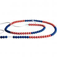 Chainette de 100 boules rouges / bleues
