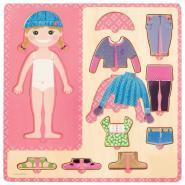 Puzzle petite fille s'habille