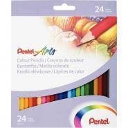 Pentel - 024183 - Crayons de couleur assortis - Etui de 24