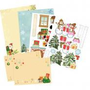Cartes Pop-up 3D thème Noël - Lot de 2