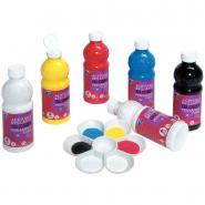 Peinture acrylique brillante Color and Co Glossy - Couleurs assorties - Carton 6 flacons