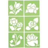 """Pochoirs """"Les fleurs"""" - Paquet de 6"""