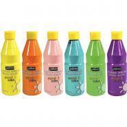 Peinture ACRYLCOLOR couleurs pastel assorties - Carton de 6 flacons 500ml