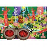 Puzzle d'observation de 24 pièces la forêt + lunettes