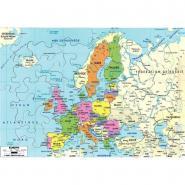 Puzzle en bois d'environ 50 pièces la carte de l'Europe