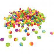 Perles rondes multicolores fluo - Pot d'environ 800
