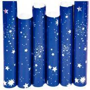 Rouleau de papier métallisé ciel étoilé - 150x70 cm