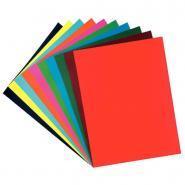 Papier dessin cartoline 50x65 130g assorti - Paquet de 50