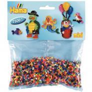 Perles Hama à repasser taille mini coloris assortis - Sachet de 7500