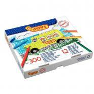 Crayons de couleur en plastique - Boîte de 300