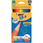 Crayons de couleur Evolution - Lot de 12 pochettes de 12