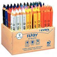 Crayons de couleur Ferby triangulaires 12cm - Boîte de 96