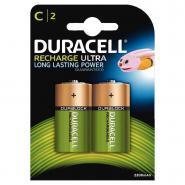 Piles rechargeables HR14 Duracell Supreme - 2200mAh - Blister de 2