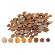 Pièce euro factices en plastique Eurecole - Sachet de 160