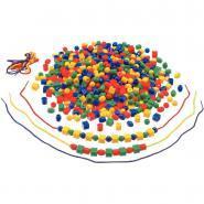 Perles à enfiler - 4 formes et 4 couleurs assorties - Sachet de 650
