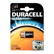 Pile lithium 3V 123 Duracell Ultra Photo