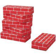 Briques rouges pour enfant - Paquet de 20