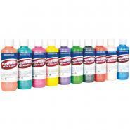 Peinture acrylique métallique assorti - Boîte de 10 flacons de 250ml