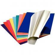 Feuilles de papier métallisé double face - 300g - 35x50 cm Paquet de 10