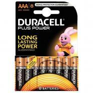 Piles 1,5V LR03 Duracell Plus Power - Blister de 8