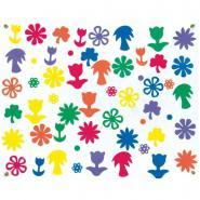 Fleurs en mousse de caoutchouc souple - Sachet de 500