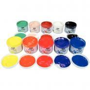 Gouache au doigt tactilcolor - Lot de 10 pots 225ml