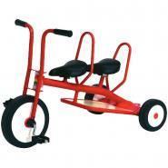 Tricycle 3-6 ans Carry 2 places - Rouge