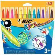 Feutres kid couleur XL pointe large - Lot de 12 pochettes de 12+1