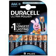 Piles 1,5V LR03 Duracell Ultra - Blister de 8