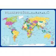 Poster pédagogique en PVC - 76x52 cm - La carte du monde