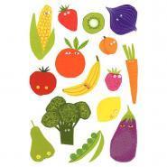 Maxi gommetttes Fruits et légumes - Pochette de 100