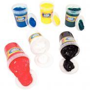 Gouache au doigt couleur vive - Lot de 6 pots de 500ml