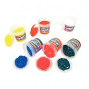 Gouache au doigt couleur vive - Coffret de 6 pots de 125ml