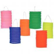 Lampion cylindrique 13cm uni coloris assortis - Lot de 30